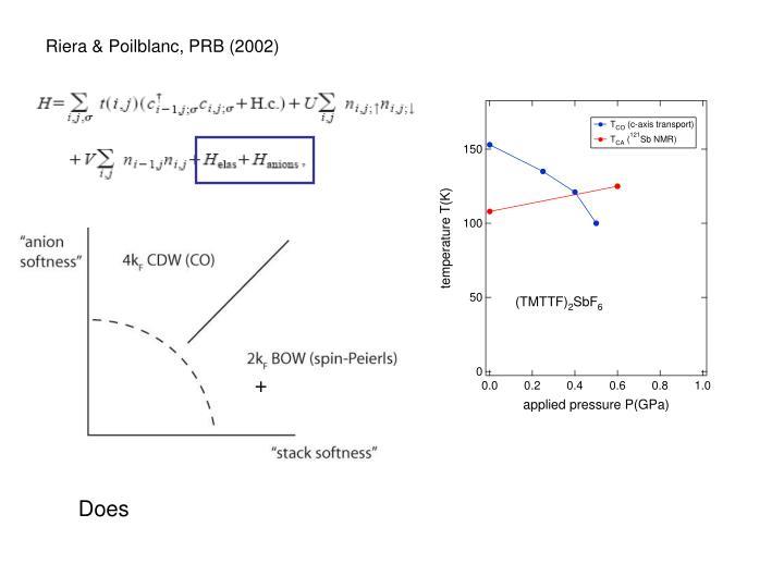 Riera & Poilblanc, PRB (2002)