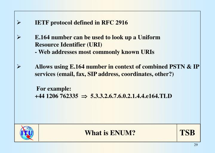 IETF protocol defined in RFC 2916