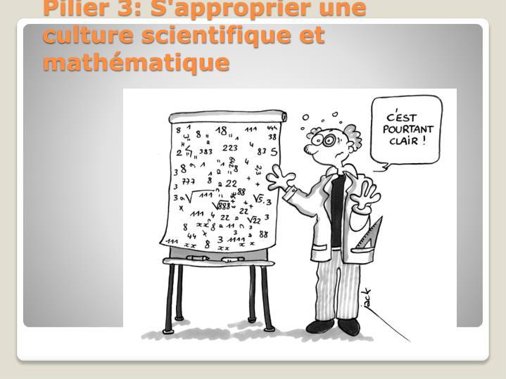 Pilier 3: S'approprier une culture scientifique et mathématique