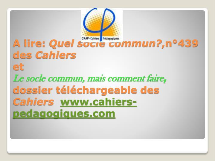 A lire: