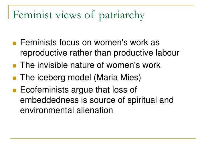 Feminist views of patriarchy