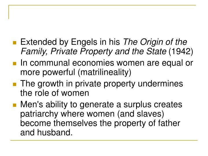 Extended by Engels in his