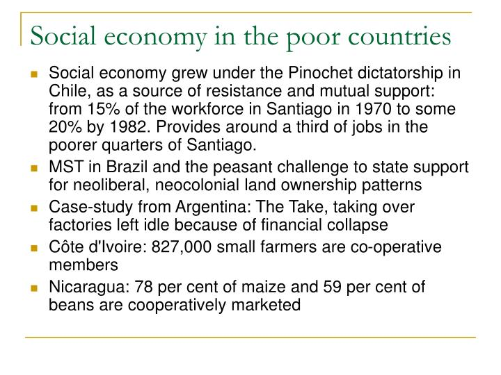 Social economy in the poor countries
