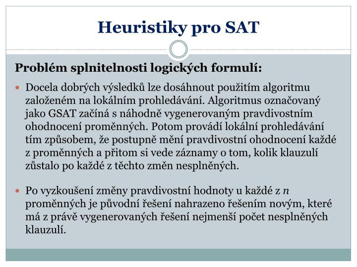 Heuristiky pro SAT