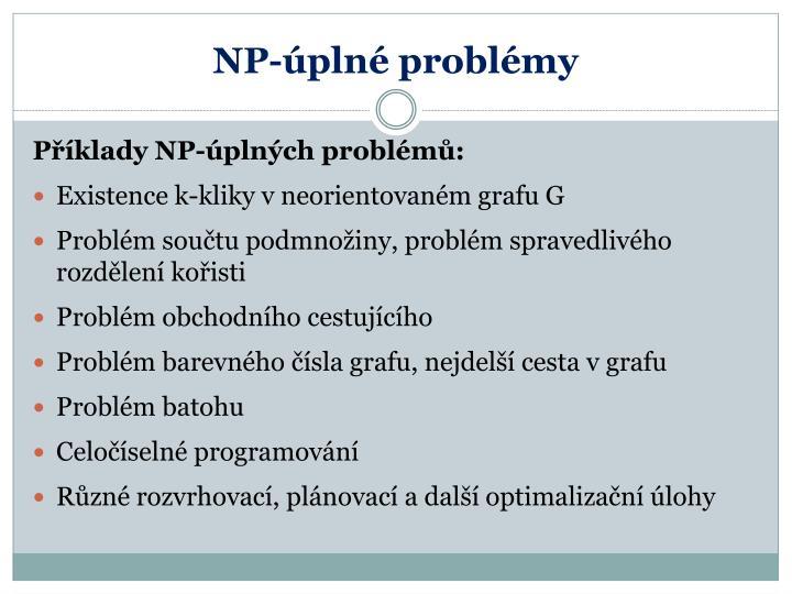 NP-úplné problémy