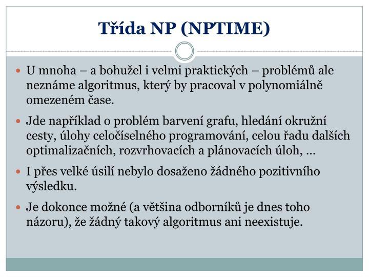 Třída NP (NPTIME)