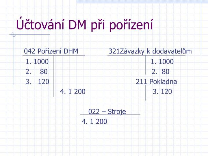 Účtování DM při pořízení