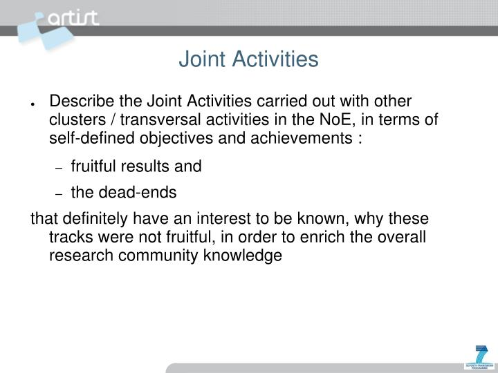Joint Activities