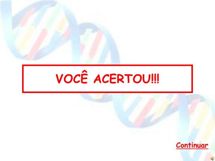 VOCÊ ACERTOU!!!