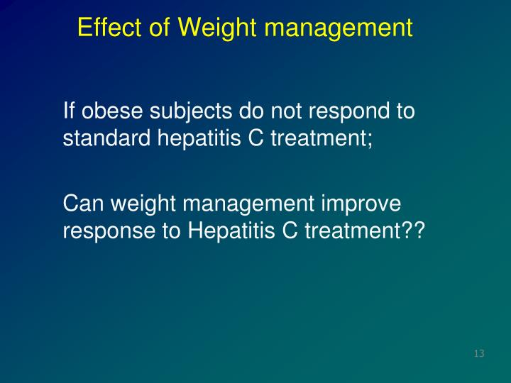 Effect of Weight management