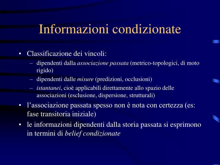 Informazioni condizionate