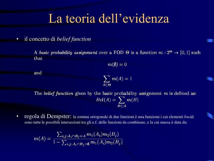 La teoria dell'evidenza