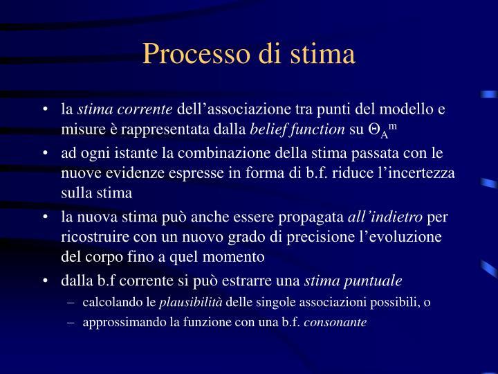 Processo di stima