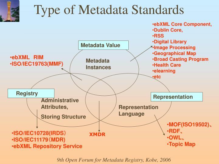 Type of Metadata Standards