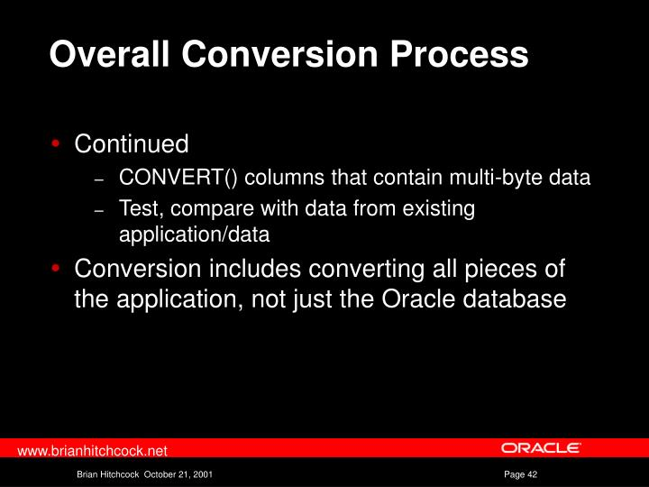 Overall Conversion Process