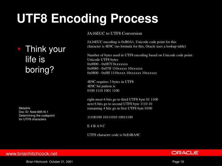 UTF8 Encoding Process