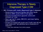 intensive therapy in newly diagnosed type 2 dm