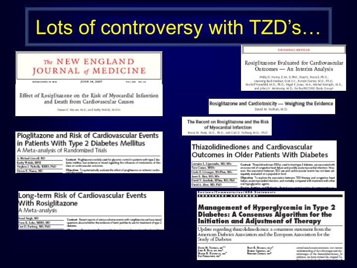Lots of controversy with TZD's…