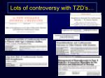 lots of controversy with tzd s