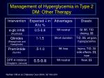 management of hyperglycemia in type 2 dm other therapy