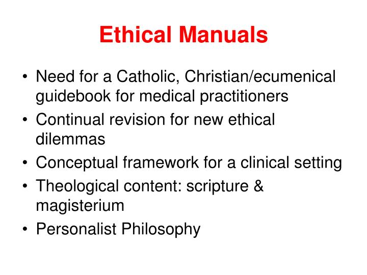 Ethical Manuals