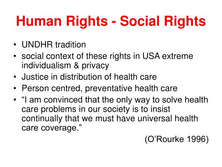Human Rights - Social Rights
