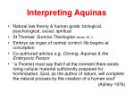 interpreting aquinas