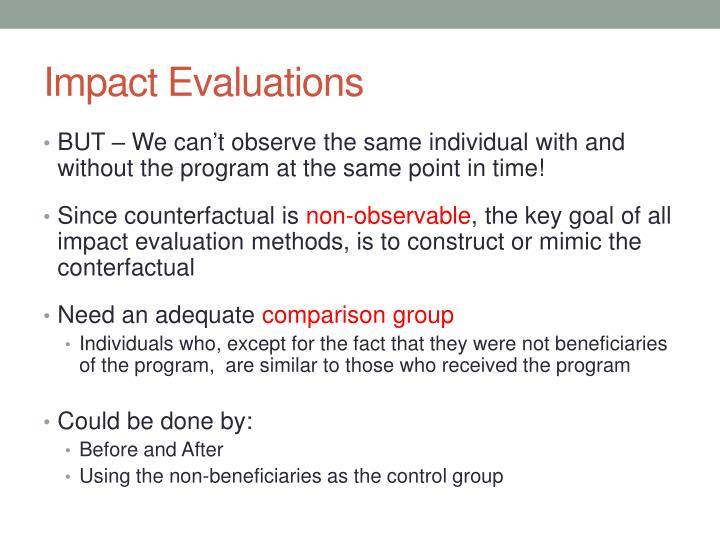 Impact Evaluations