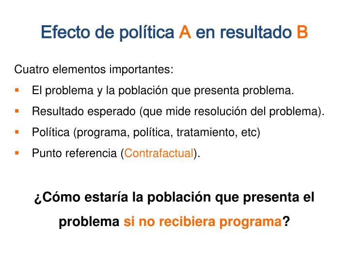 Efecto de política