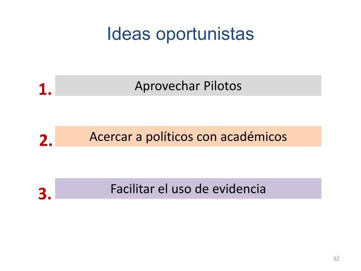 Ideas oportunistas