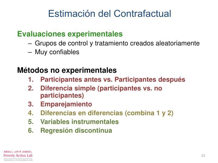 Estimación del Contrafactual