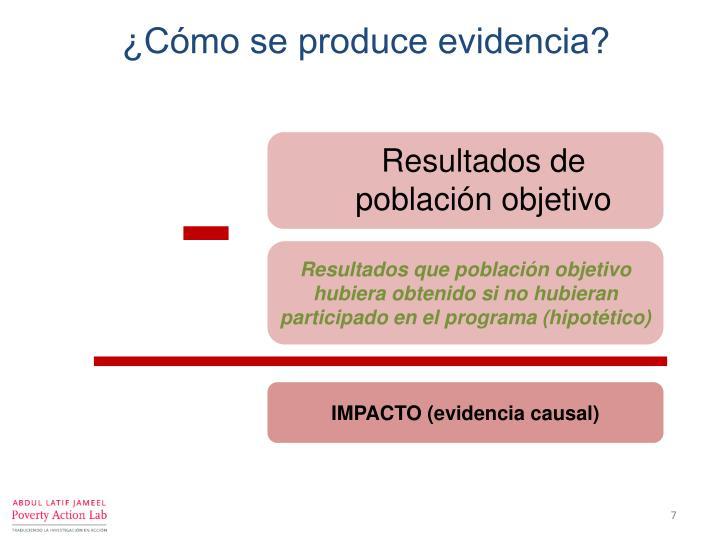 ¿Cómo se produce evidencia?