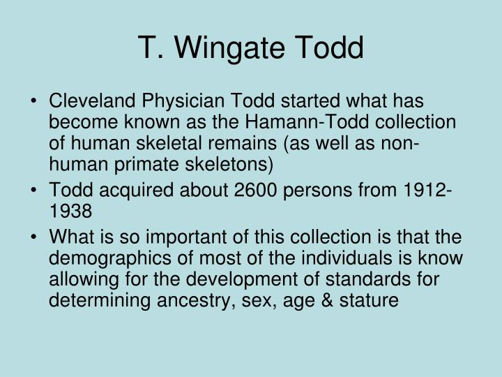 T. Wingate Todd