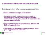 l offre infra communale insee sur internet