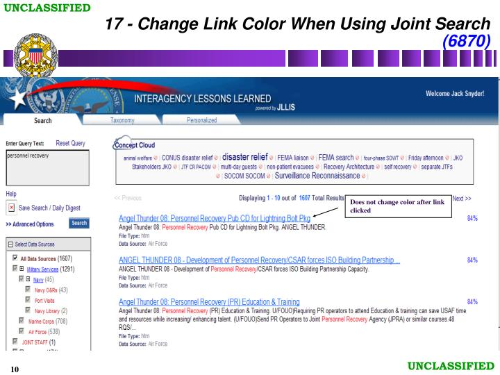 17 - Change Link Color When Using Joint Search