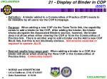 21 display of binder in cop 6587