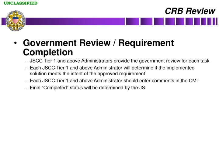 CRB Review