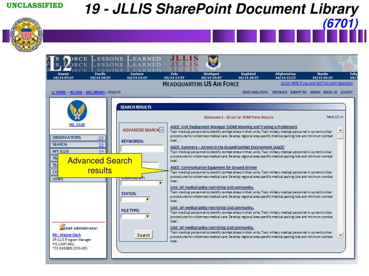 19 - JLLIS SharePoint Document Library