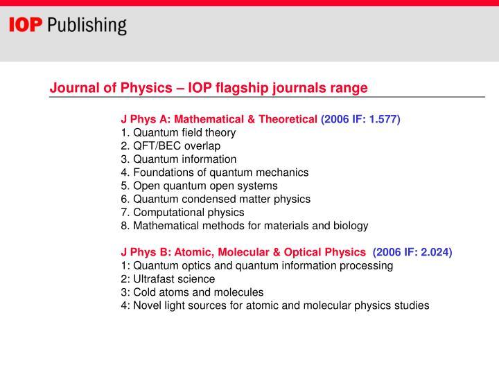 J Phys A
