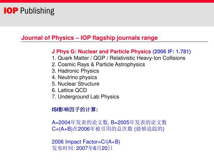 J Phys G