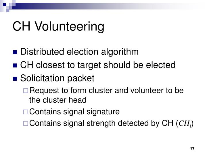 CH Volunteering