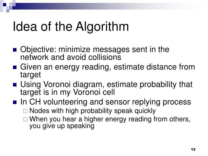 Idea of the Algorithm