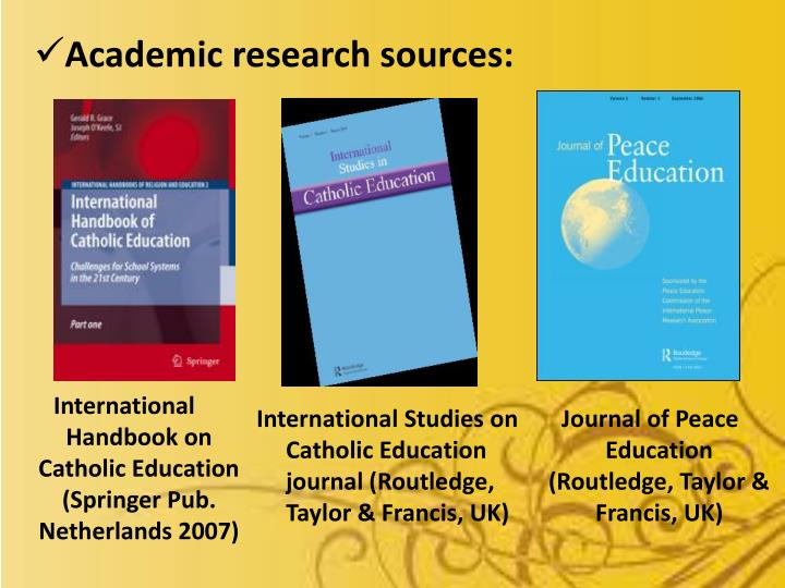 Academic research sources: