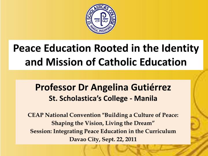 Peace Education Rooted in the Identity