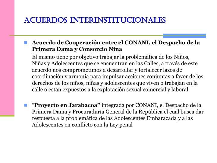 acuerdos interinstitucionales
