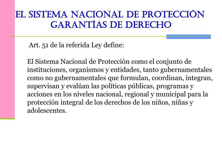 El Sistema Nacional de Protección