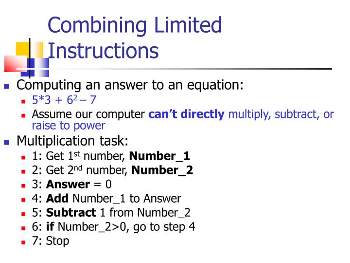 Combining Limited Instructions