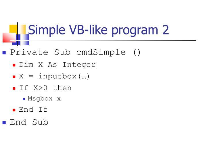 Simple VB-like program 2