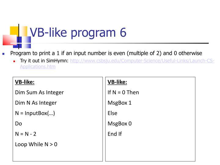 VB-like program 6