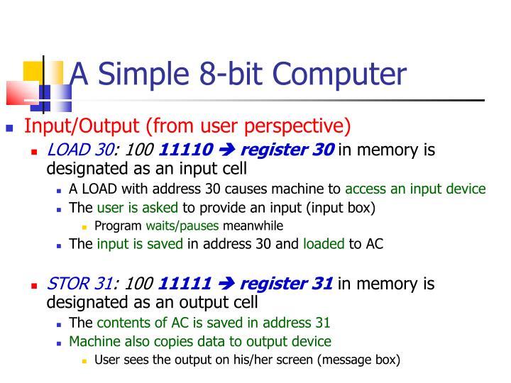 A Simple 8-bit Computer